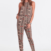 Well-Traveled Printed Jumpsuit