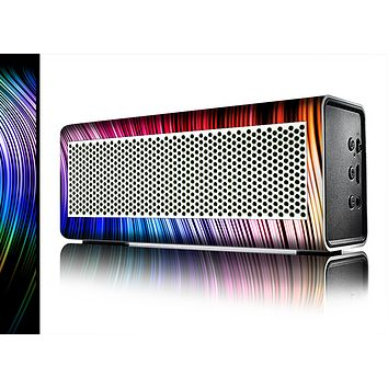 The Neon Rainbow Wavy Strips Skin for the Braven 570 Wireless Bluetooth Speaker