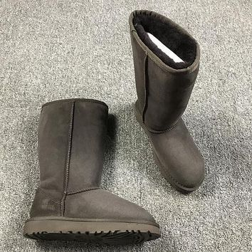 Sale Ugg 5815 Brown Classic II Tall Boot Sheepskin Boots Snow Boots