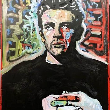 James Dean Cool Original Art 16x20 Rebel Portrait Movie Star Art Wood Wall Art Wall Decor Room Decor Gifts for Him
