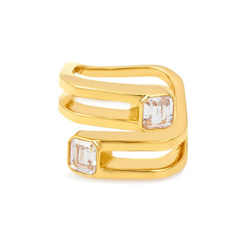 Luxe Signet Stone Wrap Ring