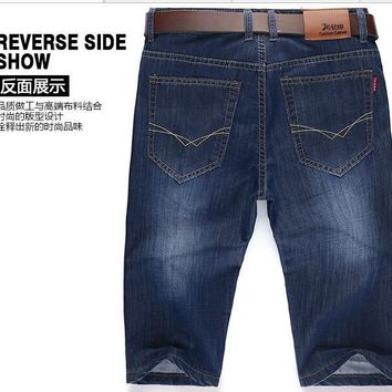 summer young men must have fashion denim shorts young boy casual cool handsome denim shorts