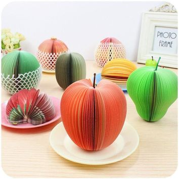 VONC1Y 1 PCS Kawaii Fruit Memo Pad  Note Cute Sticky Paper Scrapbooking Sticker Post It Note Creative Korean Stationery
