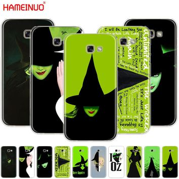 HAMEINUO Broadway Musical Wicked Lyrics cell phone case cover for Samsung Galaxy A3 A310 A5 A510 A7 A8 A9 2016 2017 2018