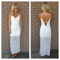 Beat to the Drum Maxi Dress - WHITE