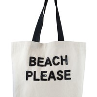Luxury Beach Bag - Beach Please