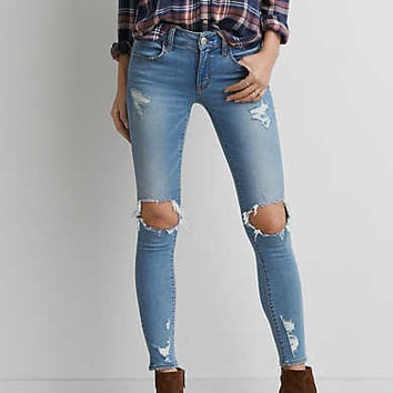 AEO Denim X Jegging, Cool Torn