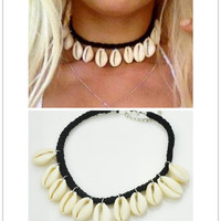 Jewelry Beach Style Shell Pendant Choker Necklace Gift For Girl