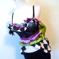 Mad Hatter, Alice in Wondeland Rave Bra / EDC Outfit