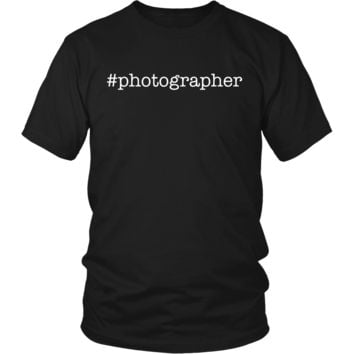 Funny Photographer Hashtags Gifts T-Shirts For Men Women Kids