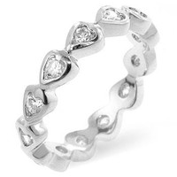 Heart Eternity Ring, size : 06