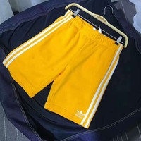 Adidas Women Lemon Yellow Sports Shorts Pants
