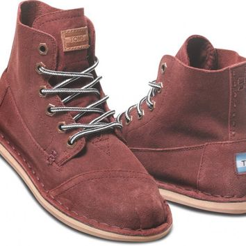 Burgundy Suede Women's Tomboy Boot | TOMS.com
