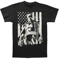 Batman Men's  Flag T-shirt Black Rockabilia