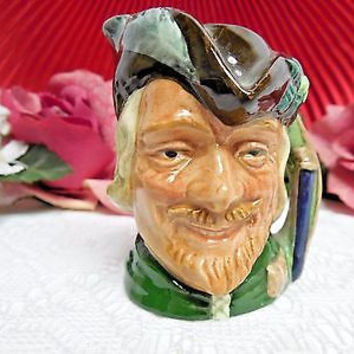 "Royal Doulton China Toby Character Jug Robin Hood -Mini 2.1/2"" tall"