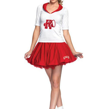 SALE! Red & White Rydell High Cheerleader Costume - Unique Vintage - Prom dresses, retro dresses, retro swimsuits.