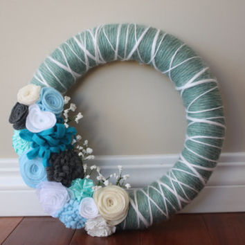 Winter Wreath, Christmas Wreath, Blue Wreath, Home Decor, Christmas Decor, Christmas Decorations, Winter Wedding, Wedding Decorations, Gifts