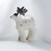 Felt Sequin Ornament - Deer