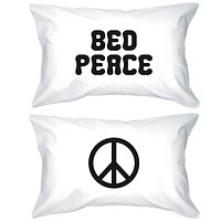 Funny Pillowcases Standard Size 20 x 31 - Bed Peace and Peace Symbol
