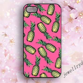Pineapples iPhone Case,Pineapples iPhone 5 Case,cute pink Pineapples,iPhone 5S iPhone Case,samsung galaxy s3 s4 s5 cover,Hipster iphone 4/4s