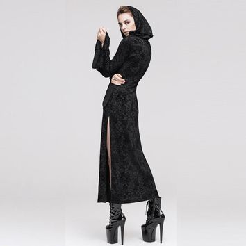 Steampunk Sexy Hoodie Dress Witch Gothic Women Hooded Renaissance