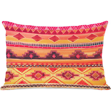"""Tequila Sunrise"" Indoor Throw Pillow by OneBellaCasa, 14""x20"""