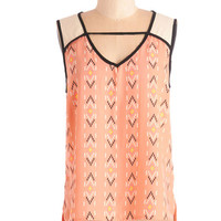 ModCloth Festival Mid-length Sleeveless Up, Up, and Freeway Top