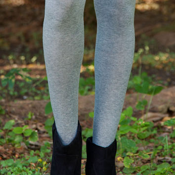 Jane Over The Knee Socks in Grey