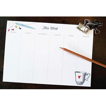 Playful Desk Weekly Planner Notepad
