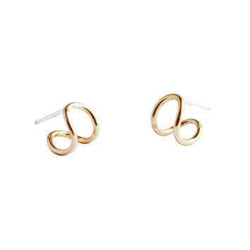 Cuddle Studs, Cuff Earrings, Small Hoops, Gold Fill