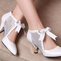 fashion  lace pointed high-heeled shoes 3800WY