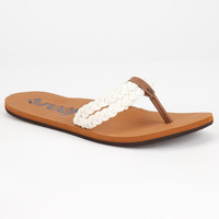 Reef Twisted Sky Womens Sandals Cream  In Sizes
