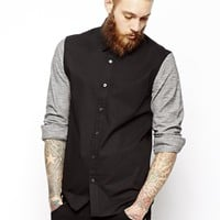 ASOS Shirt In Long Sleeve With Contrast Sleeve