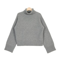 Simple Basic Turtleneck Woolen Knit Top