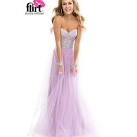 (PRE-ORDER) Flirt by Maggie Sottero 2014 Prom Dresses-Lavender Silver Grecian Goddess Tulle Dress