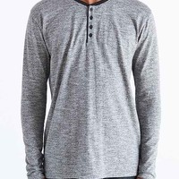 BDG Jersey Drop-Tail Henley Shirt-
