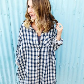 Cool Nights Button Up Top