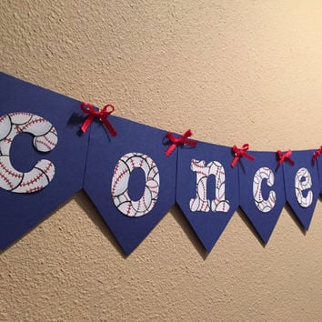 Concessions Baseball Banner, Baseball Party, Baseball Baby Shower, Baseball Birthday Party, Baseball Decor, Baseball Banner