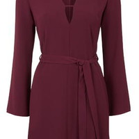 T-Bar Tunic Dress - Wine