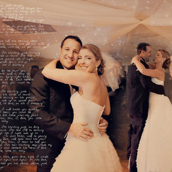 Wedding First Dance Song Lyrics Photo Art Custom Photo Editing