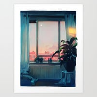 sunset Art Print by Loish