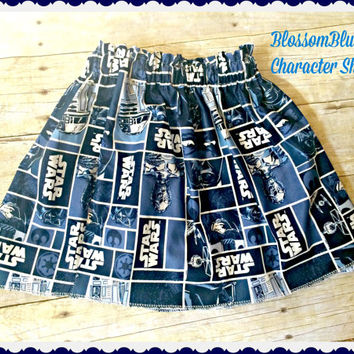 Girls star wars skirt star wars clothing 12m 18m 2t 3t 4t 5t 6X 7 8 9 10 ready to ship
