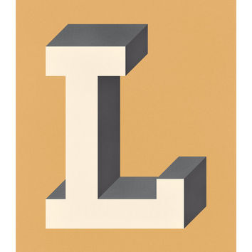 The Letter L, Original Art Print, Typography, Alphabet, Monogram