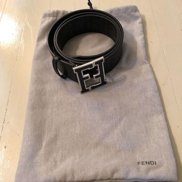 Fendi men's zucca college black belt