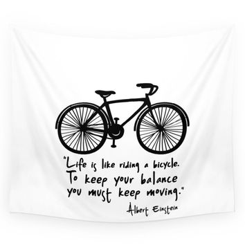 Society6 Life Is Like Riding A Bicycle... Wall Tapestry