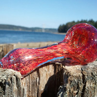 Glass Pipe -Mini Pocket Frit Spoon