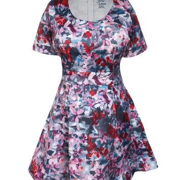 Emma Floral Fit & Flare Bigger Bust Dress
