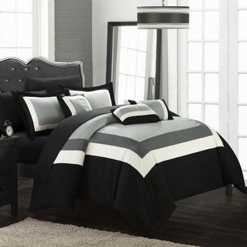 Chic Home Duke 10 Piece Comforter Set - Walmart.com