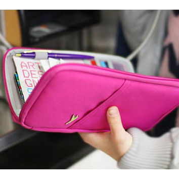 Travel Accessories Women's Storage Bags Brand Wallet for Passport Credit ID Cards Tickets Holder Waterproof Hasp Purse Bag
