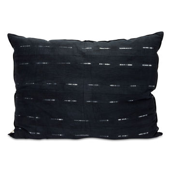 Sabina Shibori Bed Pillow - Indigo